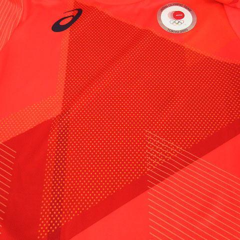 【中古】アシックス asics Tシャツ 半袖 丸首 総柄 オリンピック 2020 オレンジ M メンズ 【ベクトル 古着】|vectorpremium|04