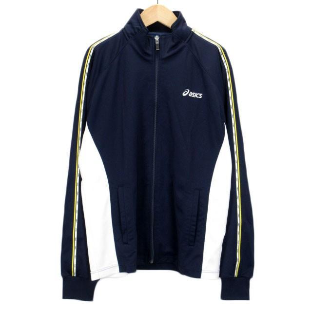【中古】アシックス asics ジャムジーPSジャケット ジャージ トップ XAT150 L 紺 ネイビー メンズ 【ベクトル 古着】|vectorpremium