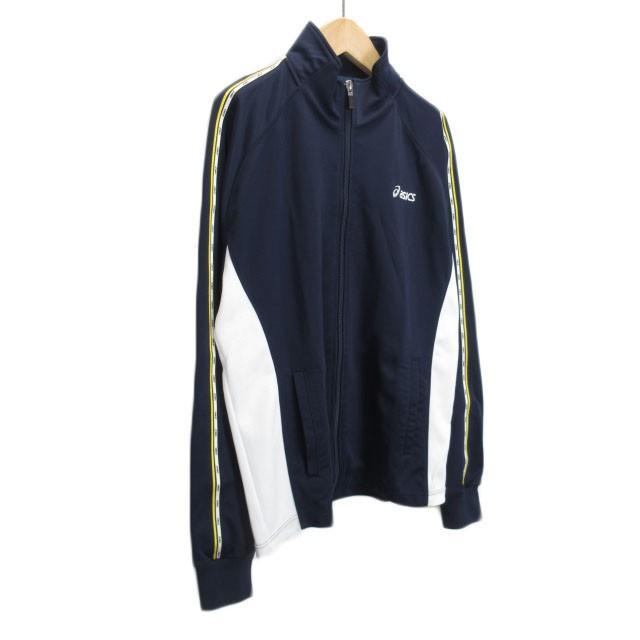 【中古】アシックス asics ジャムジーPSジャケット ジャージ トップ XAT150 L 紺 ネイビー メンズ 【ベクトル 古着】|vectorpremium|03