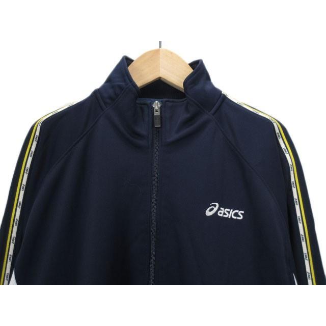 【中古】アシックス asics ジャムジーPSジャケット ジャージ トップ XAT150 L 紺 ネイビー メンズ 【ベクトル 古着】|vectorpremium|04