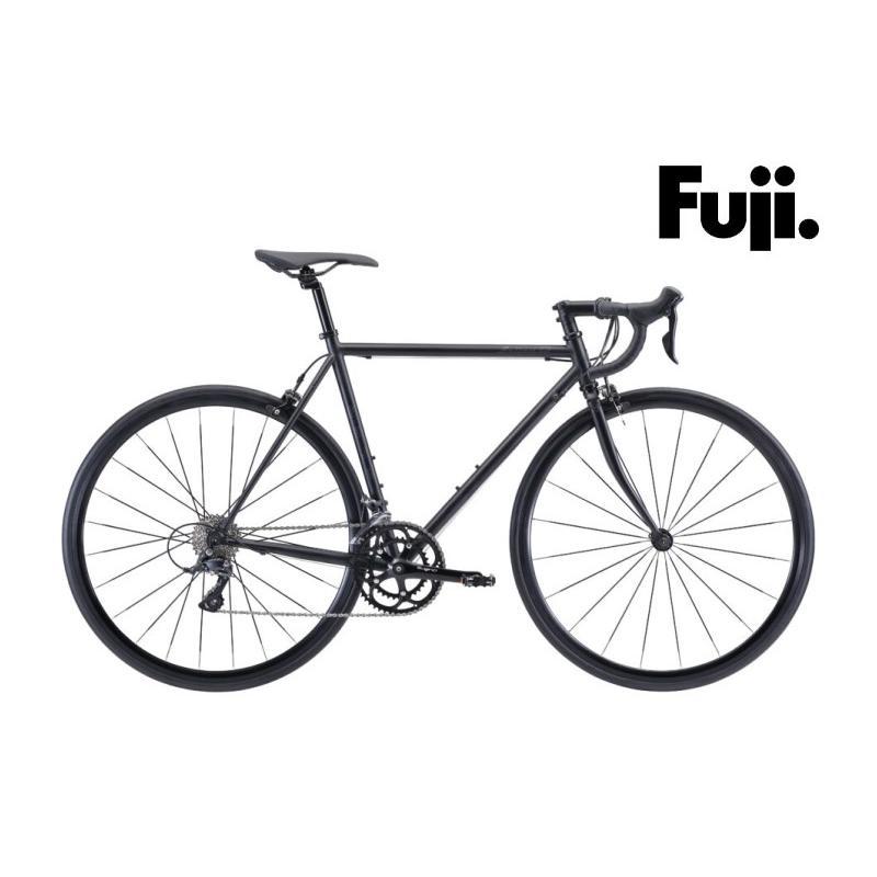 (選べる特典付き!)ロードバイク 2021 FUJI フジ BALLAD OMEGA バラッド オメガ マットブラック SHIMANO SORA 18段変速 700C クロモリ