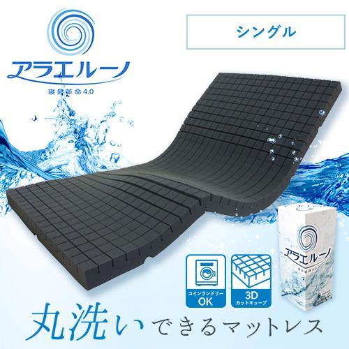 アラエルーノ カバー付き 送料無料 シングル マットレス 丸ごと 洗える 高反発 日本製 コインランドリー 厚さ8cm 体圧分散  コンパクト ネット付き|venex