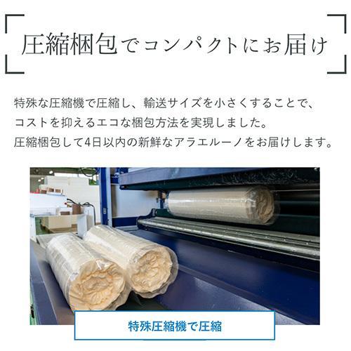 アラエルーノ カバー付き 送料無料 シングル マットレス 丸ごと 洗える 高反発 日本製 コインランドリー 厚さ8cm 体圧分散  コンパクト ネット付き|venex|10