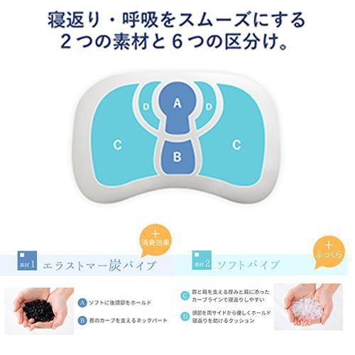 ジムナストソフトフィール 枕 送料無料 まくら 洗える 日本製 高さ調節 首こり 肩こり いびき パイプ|venex|11