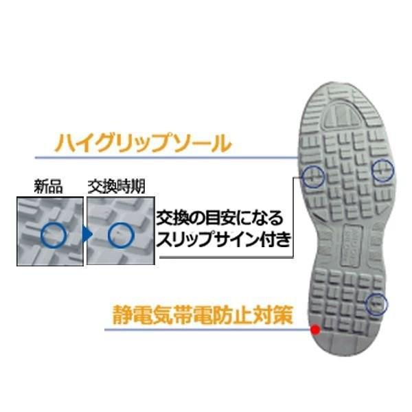 安全作業靴 ミドリ安全 ワークプラス エアHG ISA-805 静電 ネイビー 先芯入りスニーカー ローカット メッシュ 通気性 verdexcel-medical 06