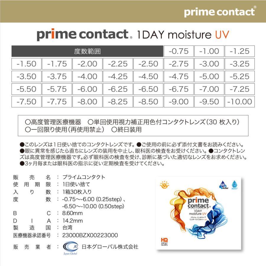 コンタクトレンズ クリアコンタクト プライムコンタクト ワンデー モイスト UV 1day 30枚入り 55%イオン性高含水 生コンタクト|verita1day|17