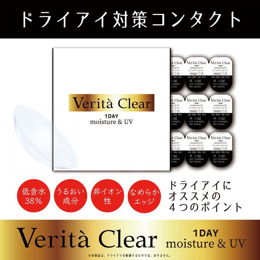 コンタクトレンズ 1day 30枚入り ワンデー 1日使い捨て ヴェリタクリア UVモイスチャー38|verita1day|02