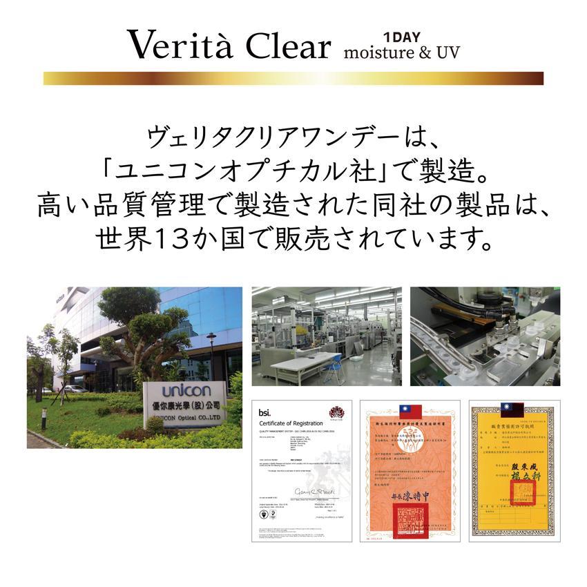 コンタクトレンズ 1day 30枚入り ワンデー 1日使い捨て ヴェリタクリア UVモイスチャー38|verita1day|13