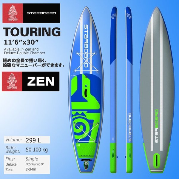 50%OFF 2018 スターボード STARBOARD スタンドアップパドルボード Touring ツーリング INFLATABLE SUP 11'6