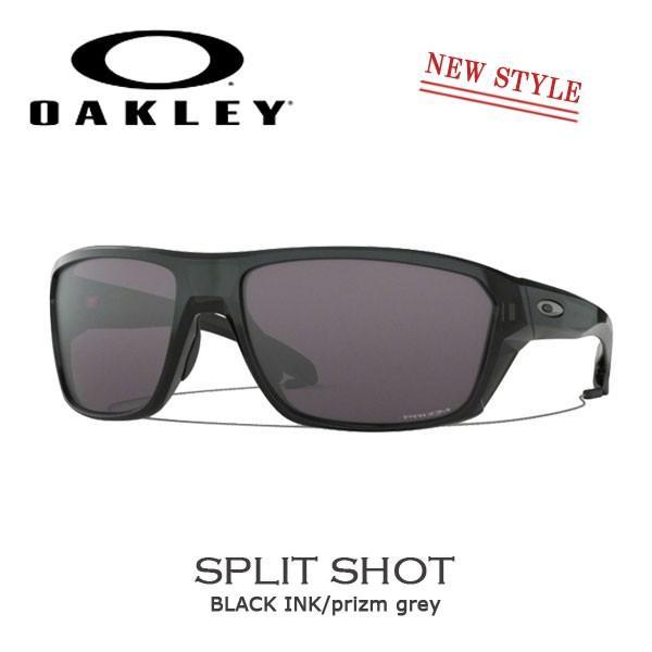 スポーツ サングラス オークリー OAKLEY SPLIT SHOT スプリットショット 黒 INK/prizm グレー