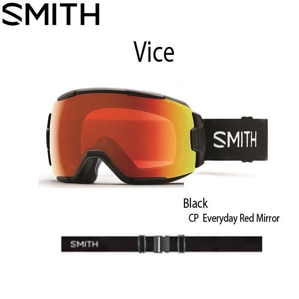 激安先着 スノーボード ゴーグル ハイコントラストレンズ 19-20 SMITH スミス VICE バイス BLACK CP EVERYDAY RED MIRROR - 中型, Ones Interior b6024a96