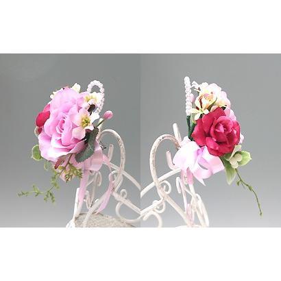 スイートピンク色のバラのコサージュ|vertpalette-store|04
