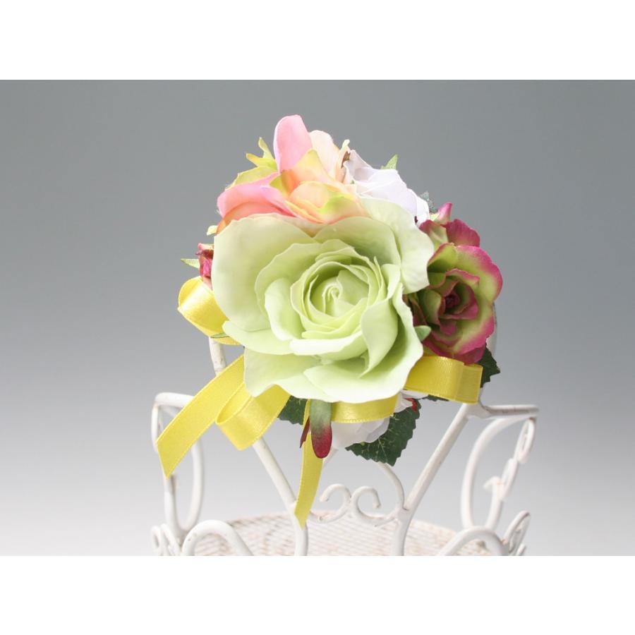 ライトグリーンのバラのコサージュセット|vertpalette-store|08