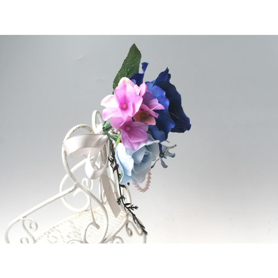 ロイヤルブルーバラのコサージュ vertpalette-store 05