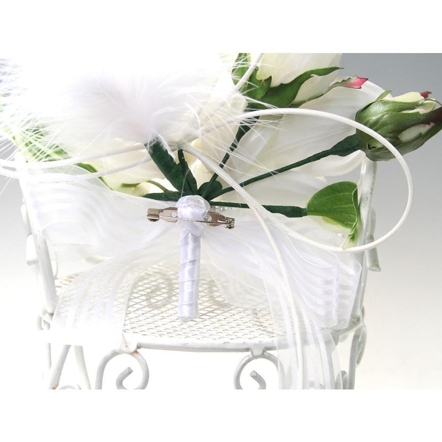 白色のシンビジウムのコサージュ|vertpalette-store|05