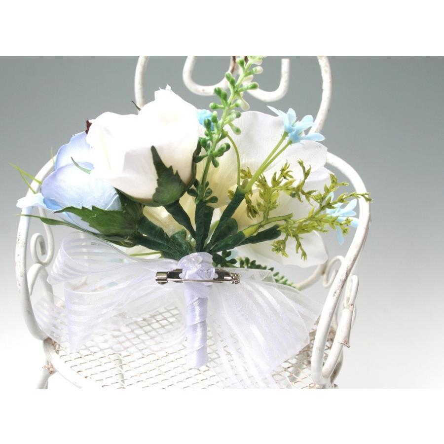 白色のユーチャリスのコサージュ|vertpalette-store|05