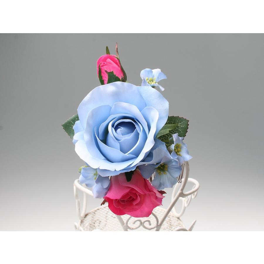 バラとビジューのパーツセット(16パーツ)の髪飾り:HA014|vertpalette-store|07