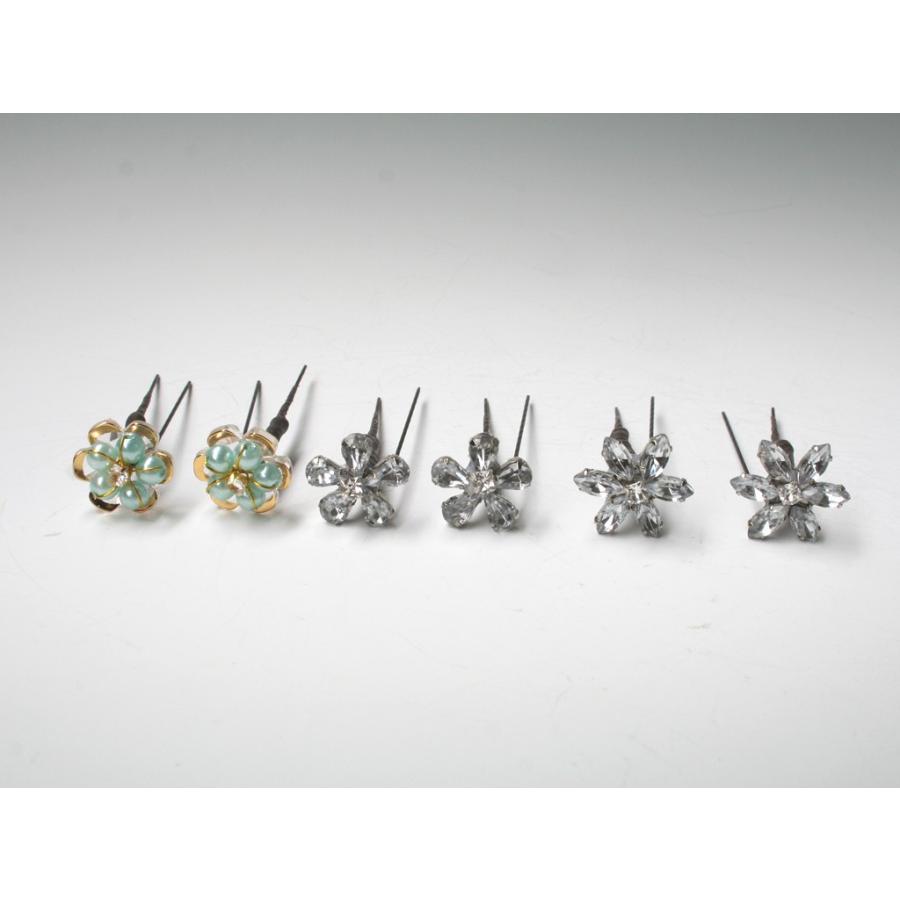 バラとビジューのパーツセット(16パーツ)の髪飾り:HA014|vertpalette-store|10
