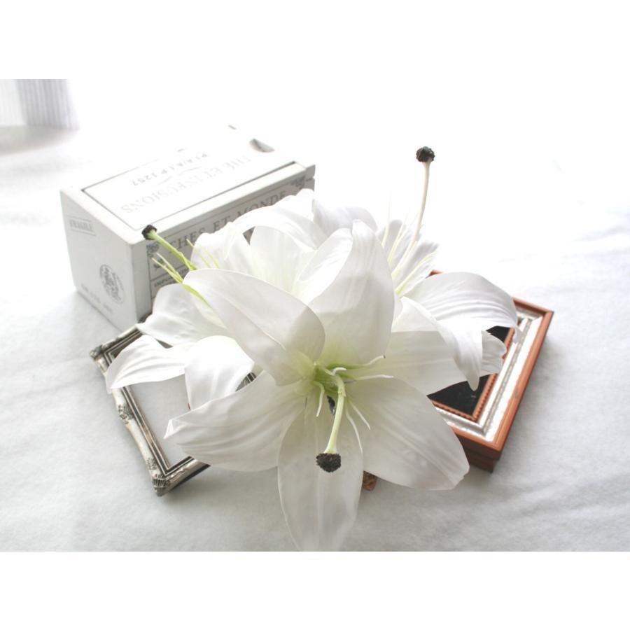 シンプルでゴージャス、カサブランカの髪飾り:HA025|vertpalette-store