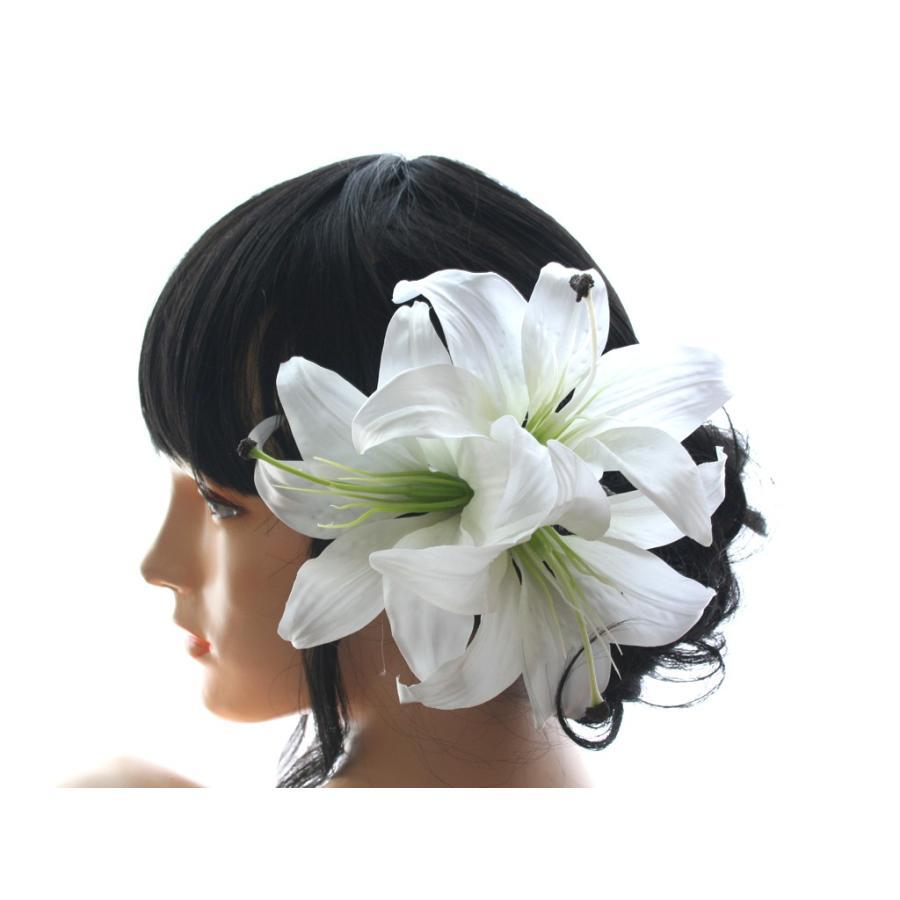 シンプルでゴージャス、カサブランカの髪飾り:HA025|vertpalette-store|02