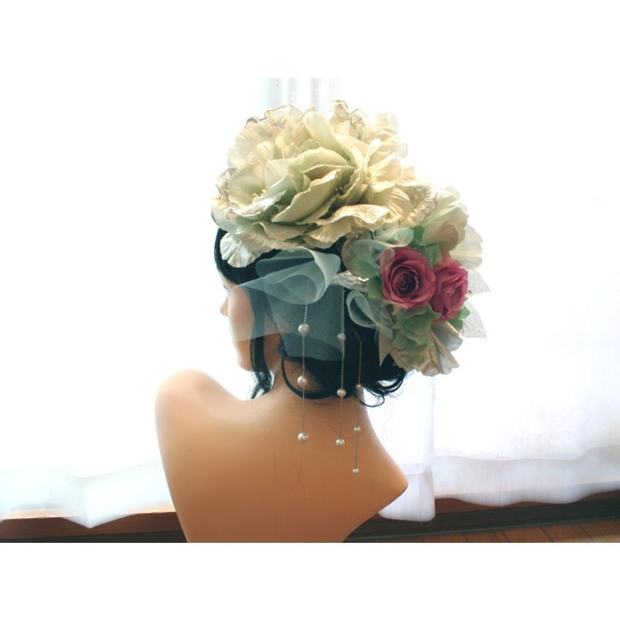 シルバー系でキラキラしたモダンな髪飾り(コームとUピンパーツ):HA046 vertpalette-store