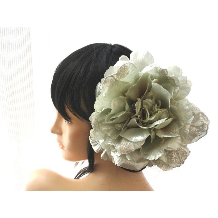 シルバー系でキラキラしたモダンな髪飾り(コームとUピンパーツ):HA046 vertpalette-store 07