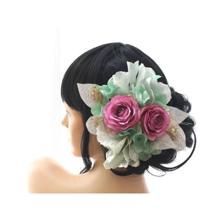 シルバー系でキラキラしたモダンな髪飾り(コームとUピンパーツ):HA046 vertpalette-store 08