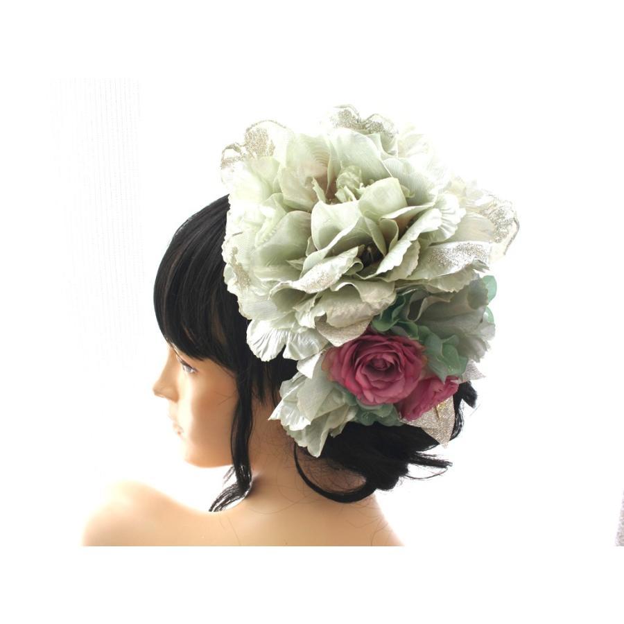 シルバー系でキラキラしたモダンな髪飾り(コームとUピンパーツ):HA046 vertpalette-store 09