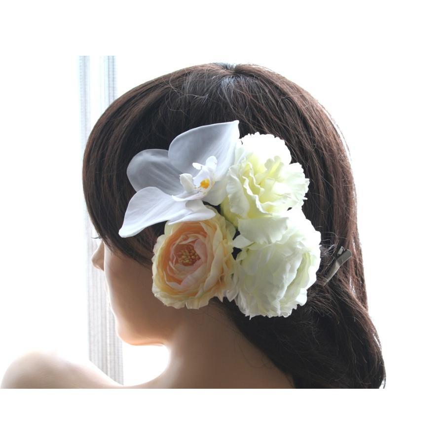 胡蝶蘭とラナンキュラスの髪飾り:HA049 vertpalette-store 02