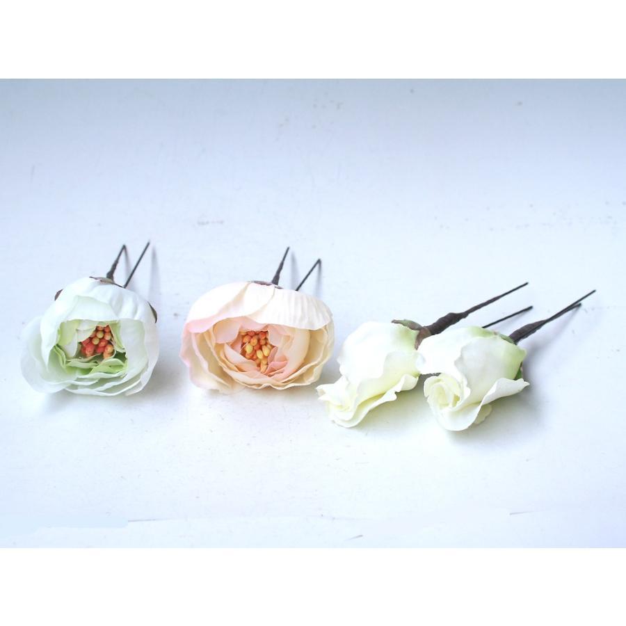 胡蝶蘭とラナンキュラスの髪飾り:HA049 vertpalette-store 08