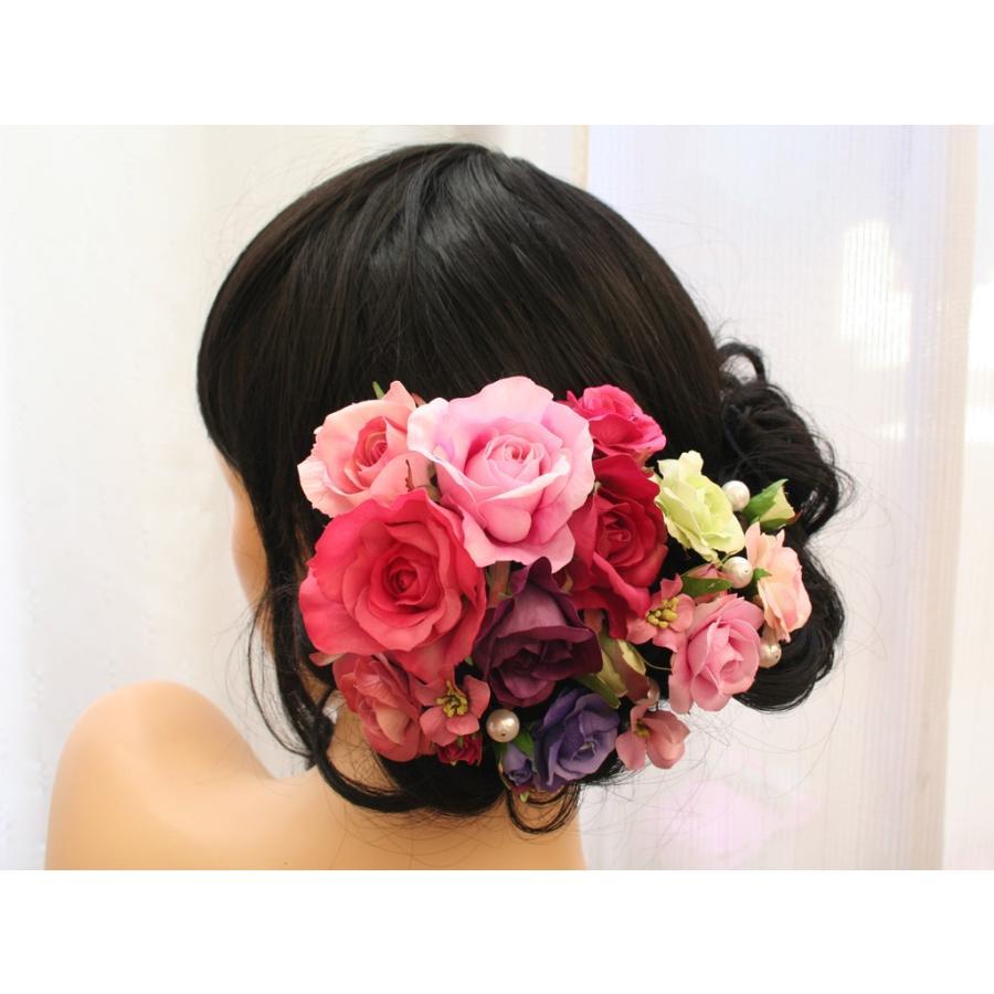 バラのパーツセットの髪飾り(19パーツ):HA058|vertpalette-store|02