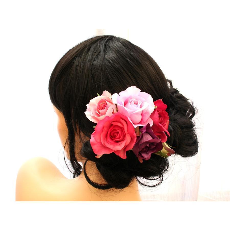 バラのパーツセットの髪飾り(19パーツ):HA058|vertpalette-store|03