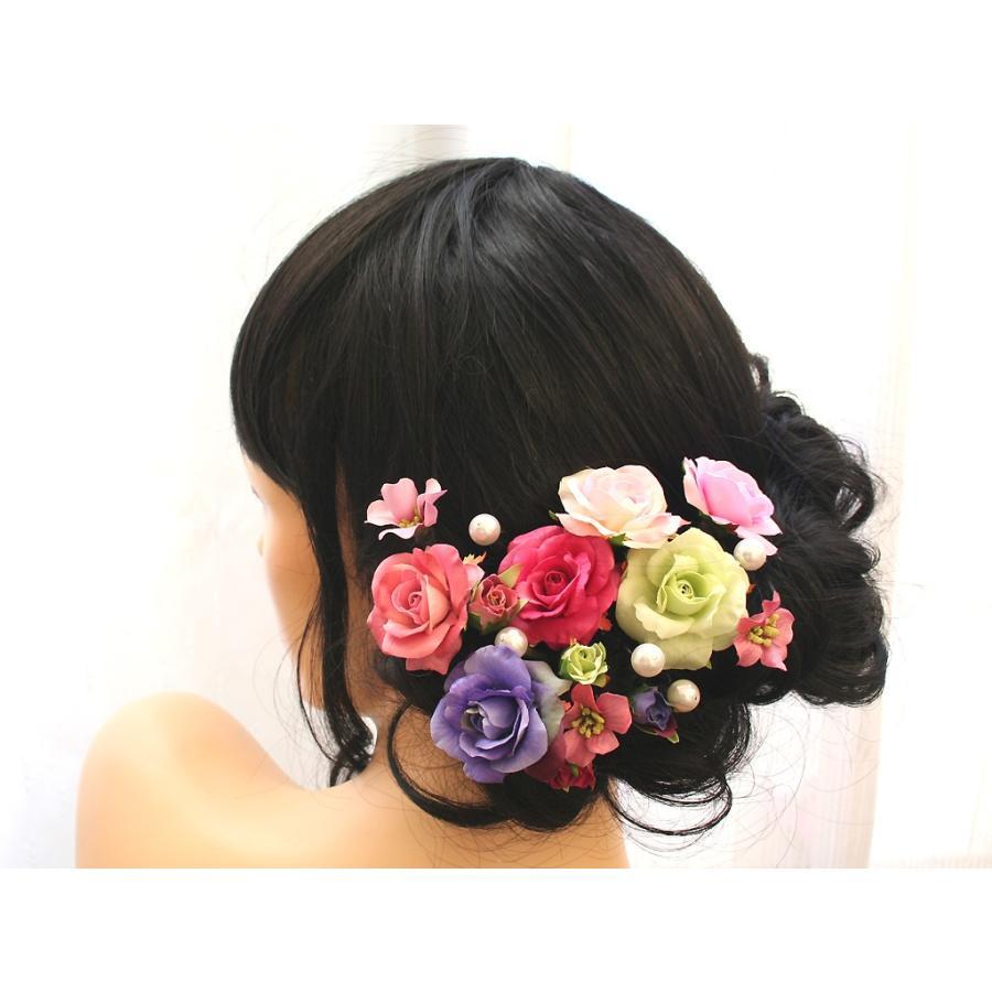 バラのパーツセットの髪飾り(19パーツ):HA058|vertpalette-store|04