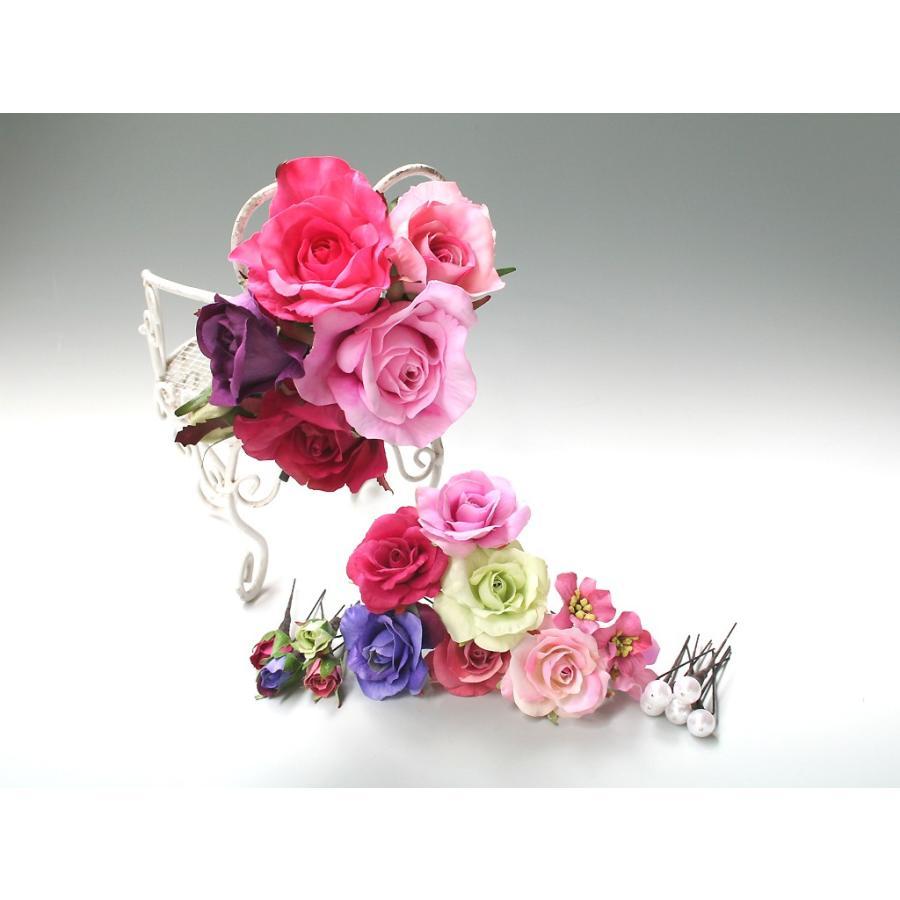 バラのパーツセットの髪飾り(19パーツ):HA058|vertpalette-store|05