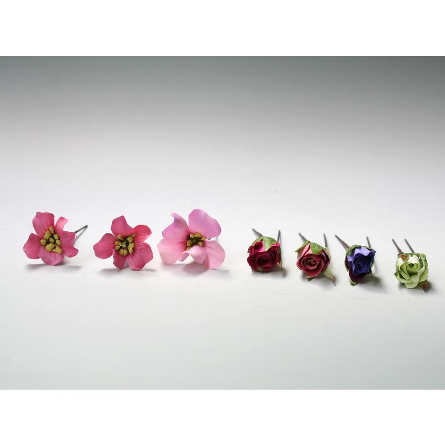 バラのパーツセットの髪飾り(19パーツ):HA058|vertpalette-store|10