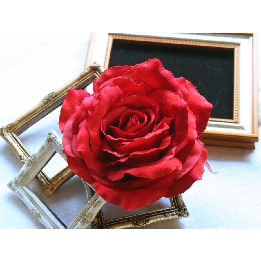 バラ大輪一輪のみの髪飾り:HA062 vertpalette-store