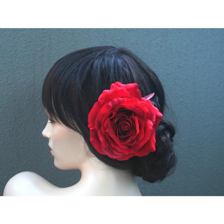 バラ大輪一輪のみの髪飾り:HA062 vertpalette-store 02