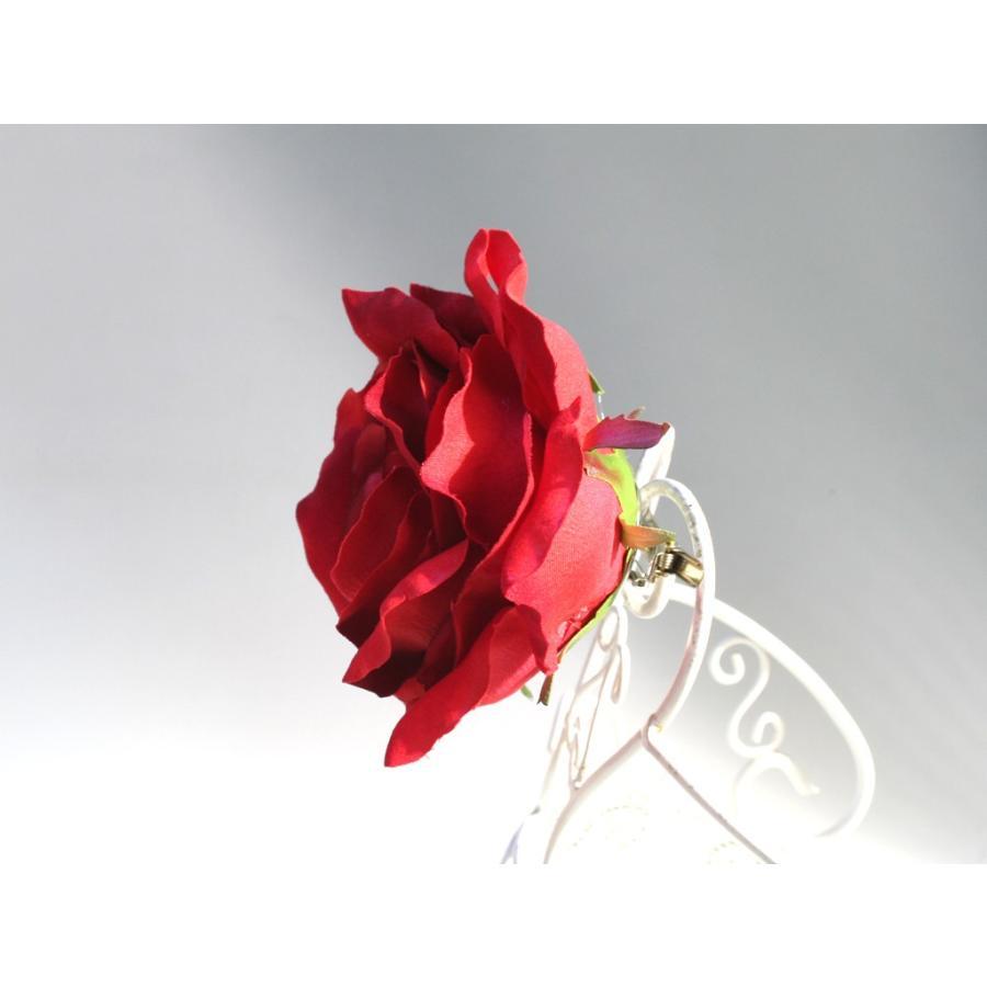 バラ大輪一輪のみの髪飾り:HA062 vertpalette-store 04