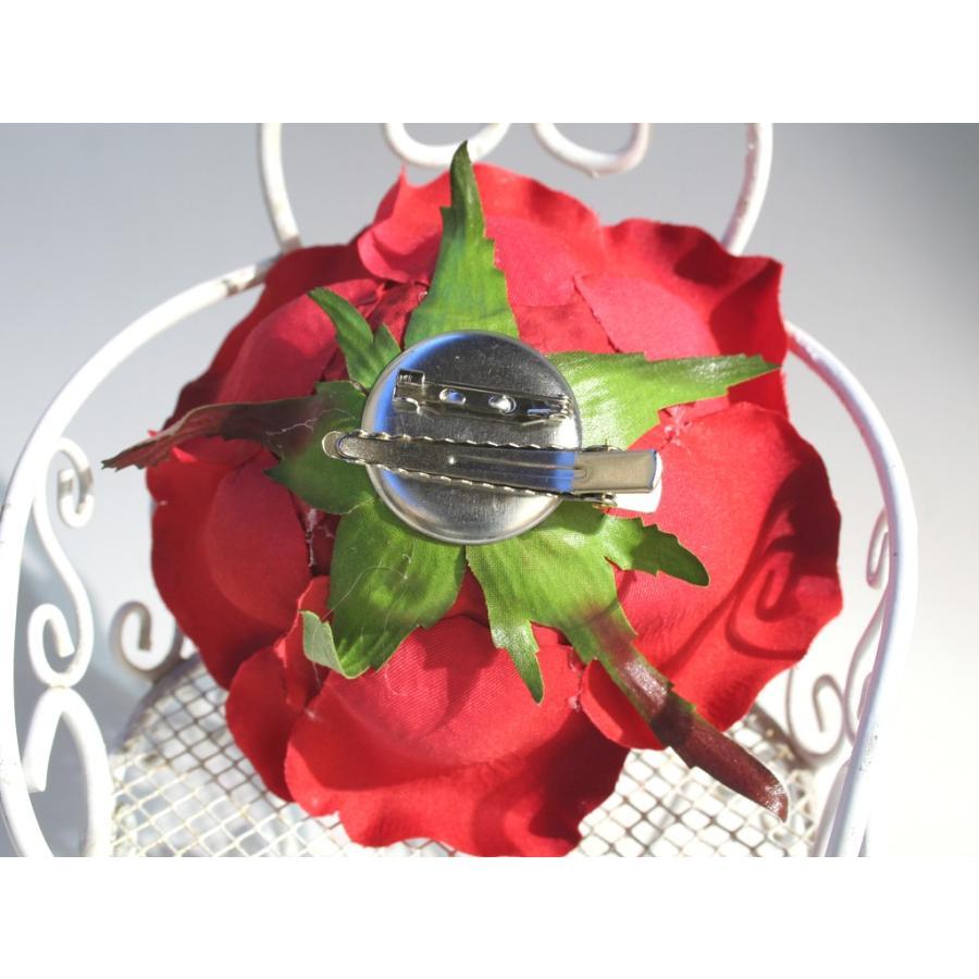 バラ大輪一輪のみの髪飾り:HA062 vertpalette-store 05