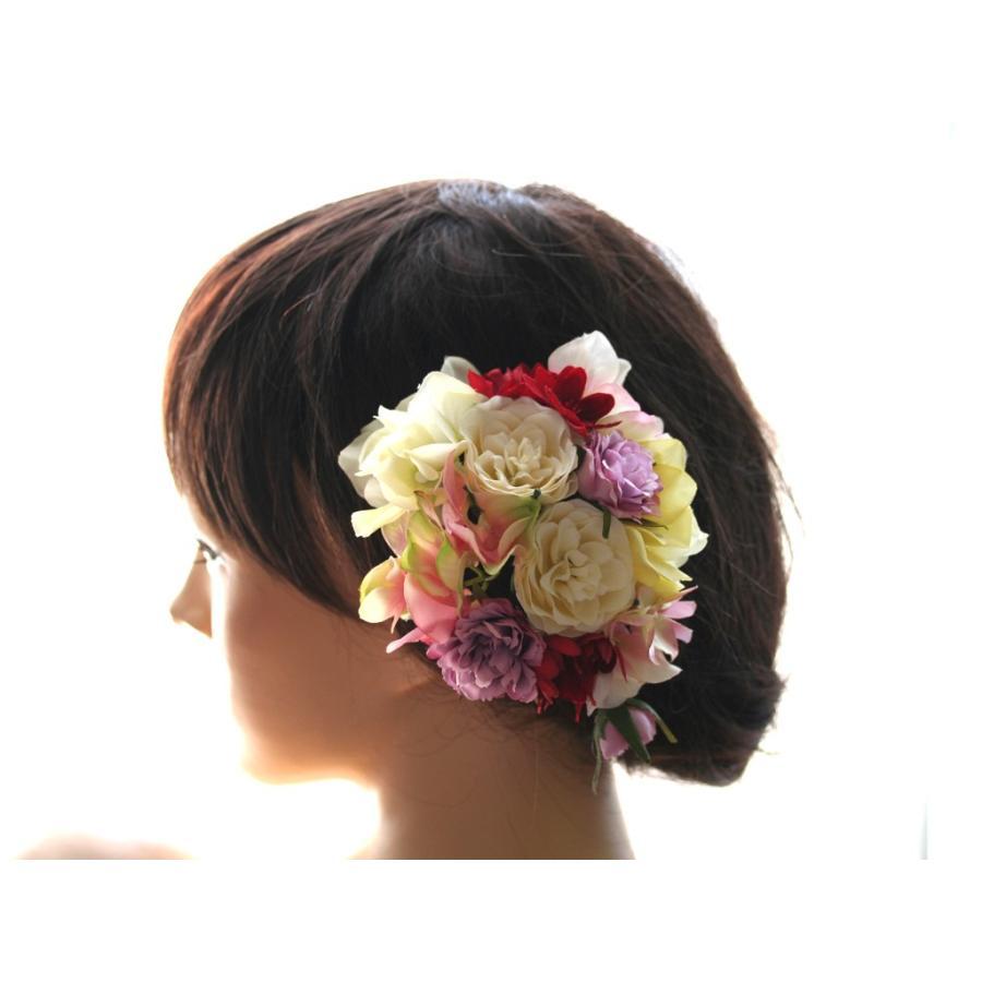 七変化する髪飾り、ダリアとアジサイのパーツセット(10パーツ):HA076|vertpalette-store|02