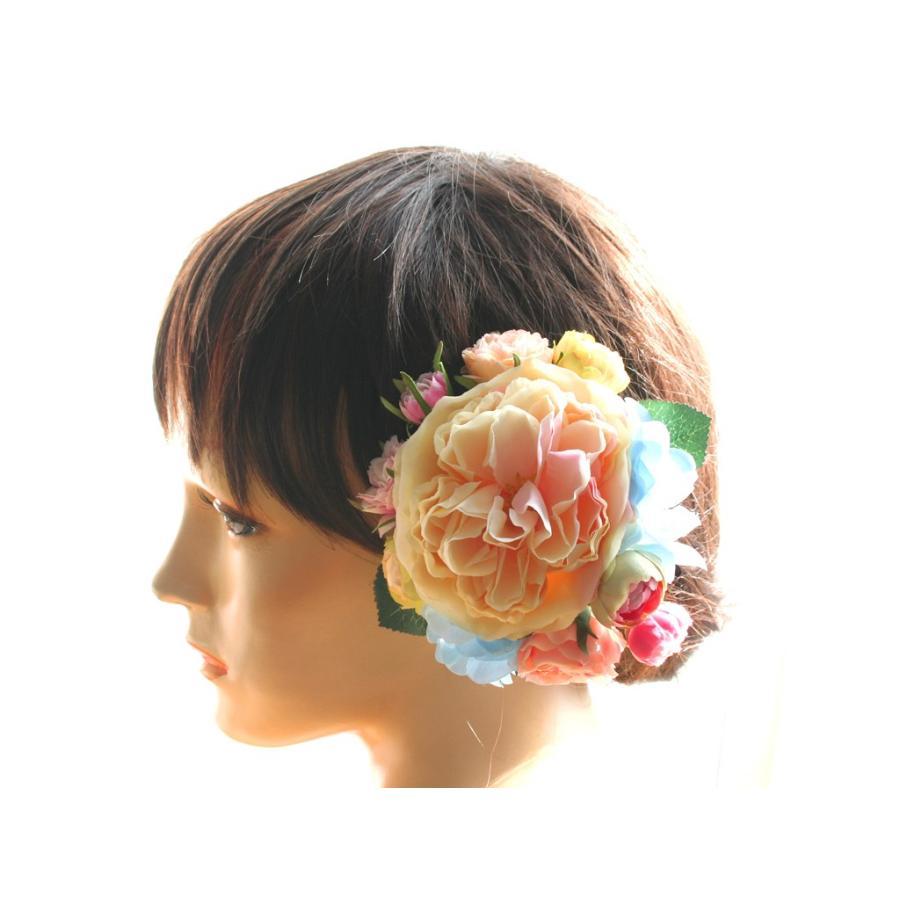 髪飾り(ヘッドドレス) ピオニーとバラのパーツセット:HA079|vertpalette-store|02