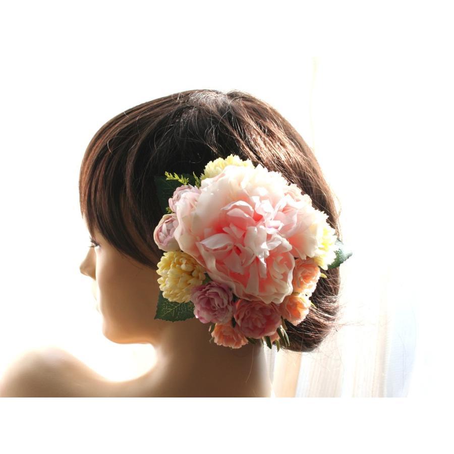 髪飾り(ヘッドドレス) ピオニーとバラのパーツセット:HA079|vertpalette-store|03