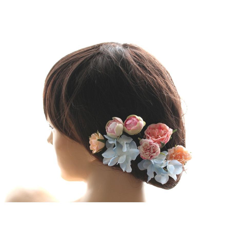 髪飾り(ヘッドドレス) ピオニーとバラのパーツセット:HA079|vertpalette-store|04