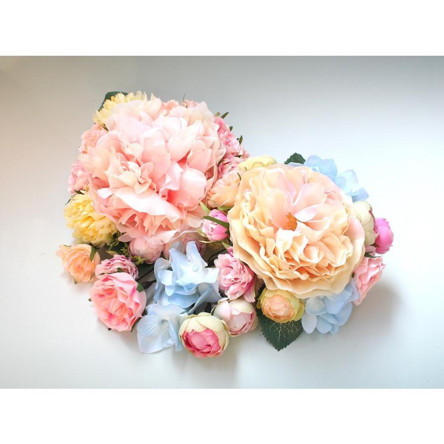 髪飾り(ヘッドドレス) ピオニーとバラのパーツセット:HA079|vertpalette-store|05