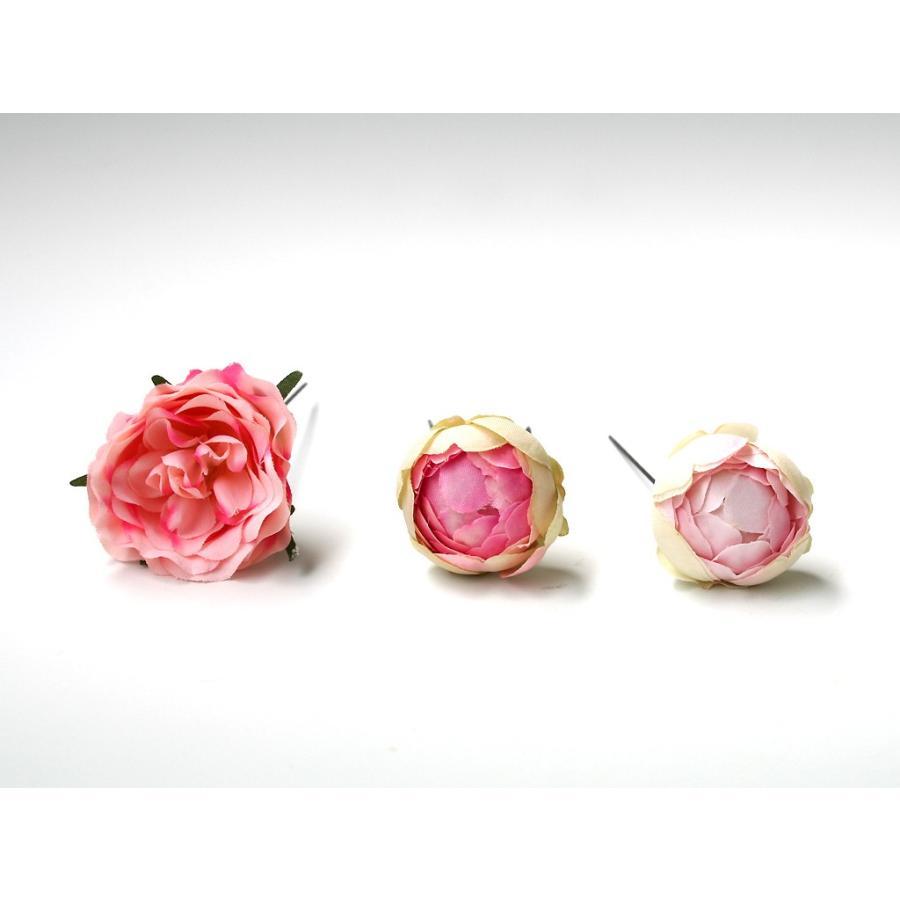 髪飾り(ヘッドドレス) ピオニーとバラのパーツセット:HA079|vertpalette-store|09
