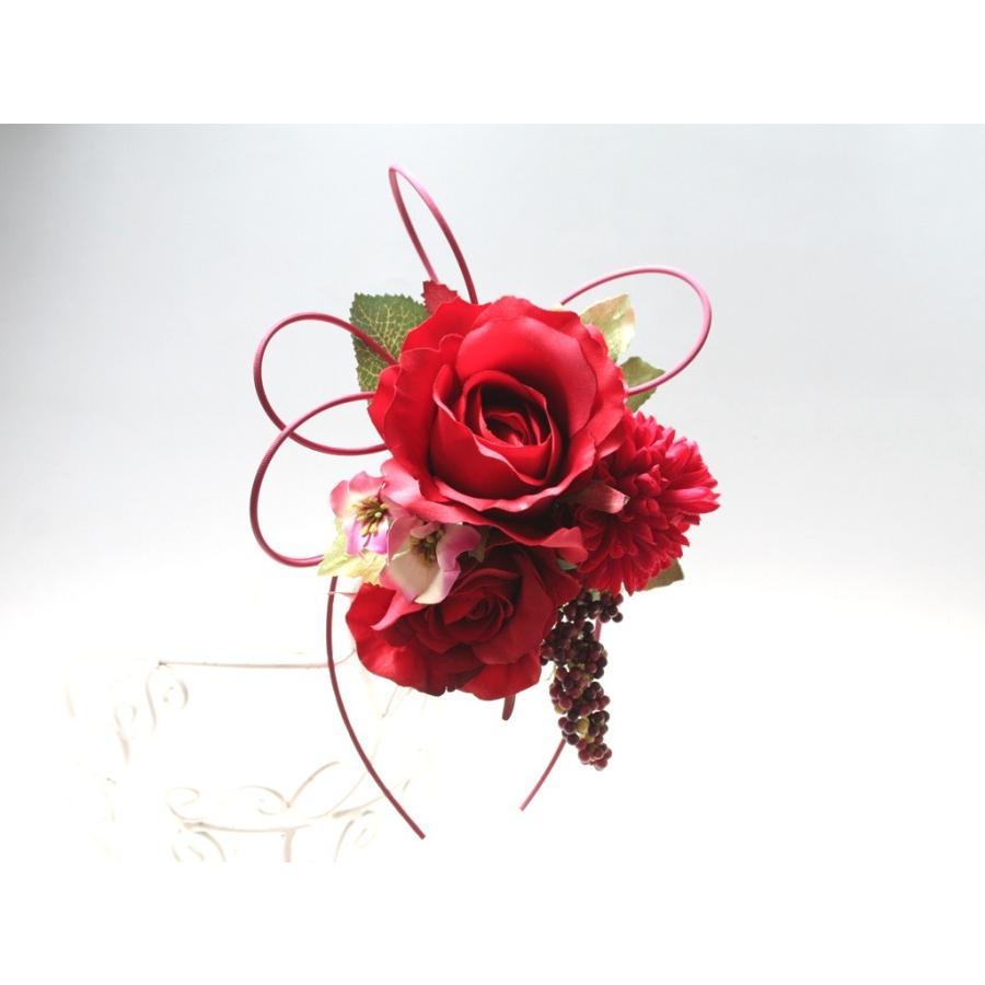 赤系でまとめたシックモダンな髪飾り(Uピン):HA059 vertpalette-store 02