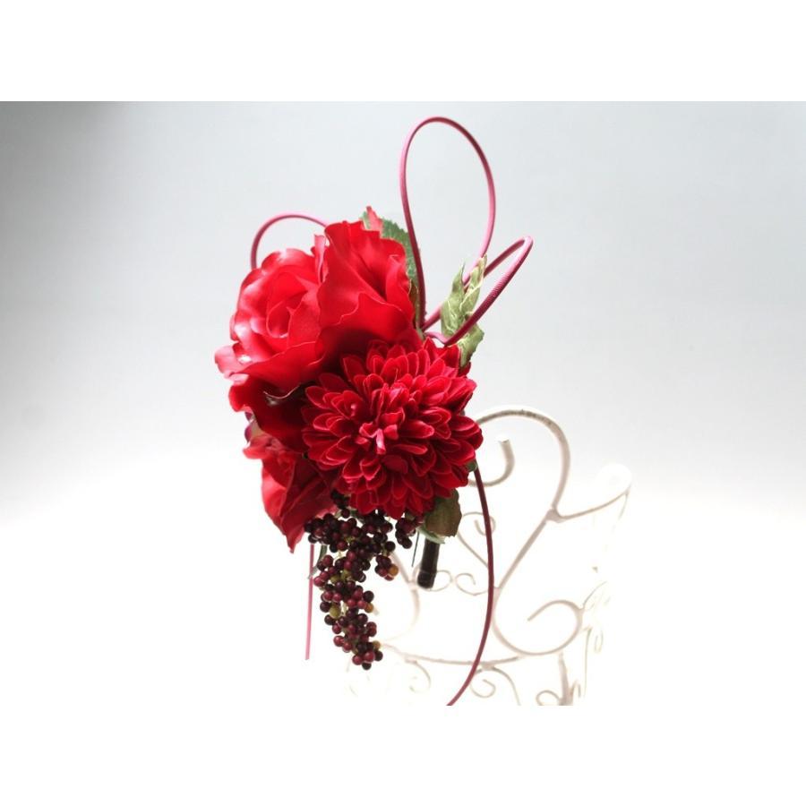 赤系でまとめたシックモダンな髪飾り(Uピン):HA059 vertpalette-store 05
