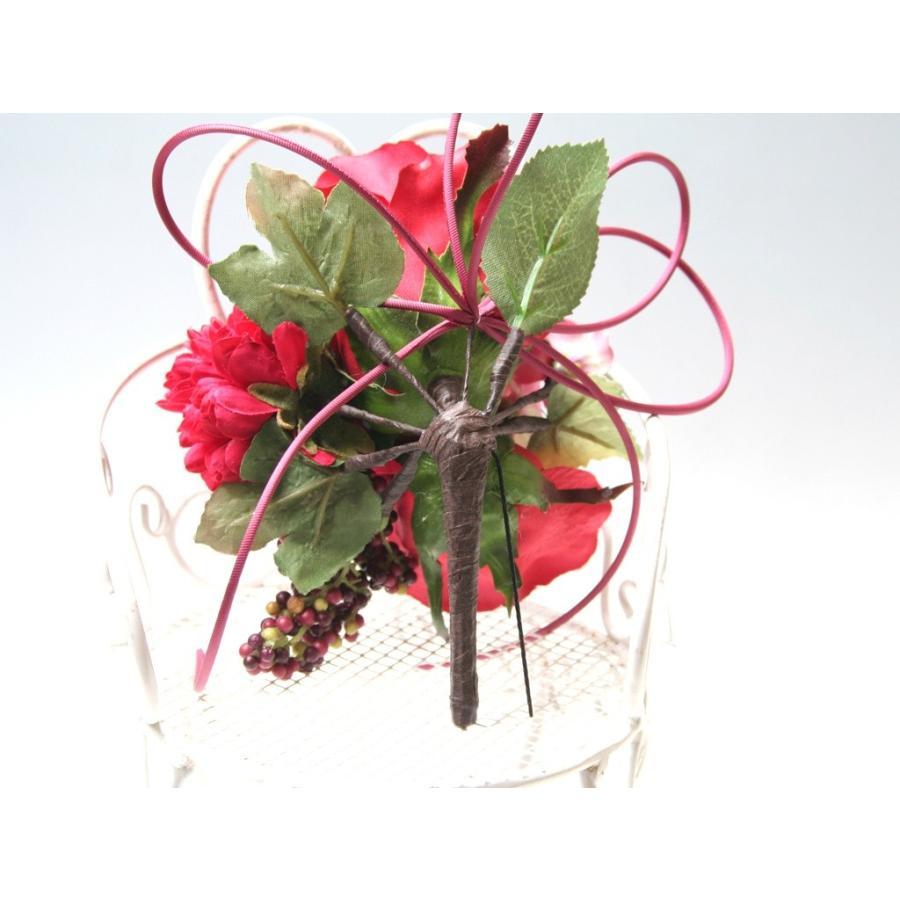 赤系でまとめたシックモダンな髪飾り(Uピン):HA059 vertpalette-store 06