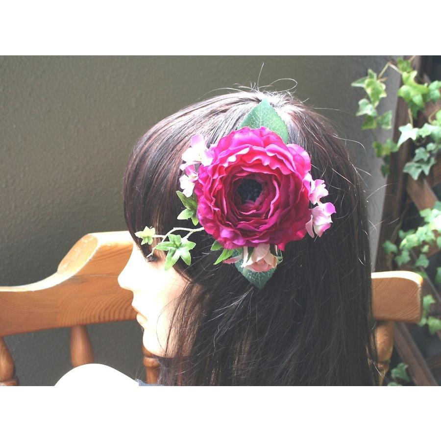 大人気!ラナンキュラスの髪飾り(コーム):HA055|vertpalette-store|02