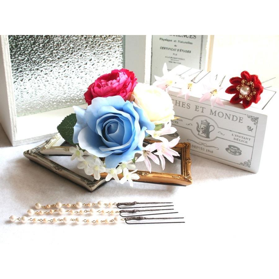 バラとちりめんモチーフとのセット:HA060|vertpalette-store